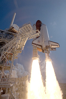 Shuttle Atlantis launches on mission STS-46