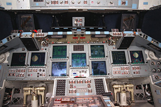 Multifunction Electronic Display System in Atlantis' cockpit