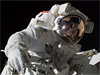Spacewalking astronaut