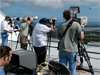 Media covering a launch