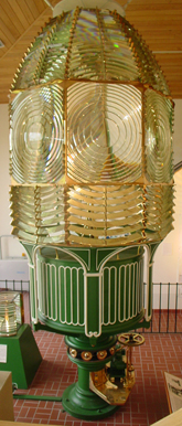 The first-order Fresnel lens from the Cape Canaveral Lighthouse.