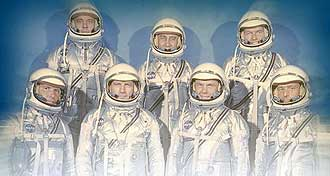 The Mercury 7 astronauts.