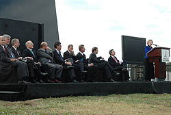 Honorable speakers at the Space Mirror Memorial
