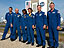 Crew of STS-121 pictued in front of the VAB