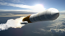 Artistic concept of the cargo launch vehicle.