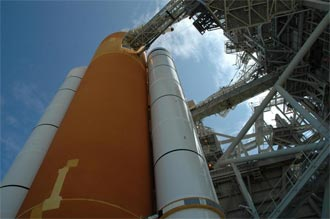 The external tank and solid rocket boosters for STS-115