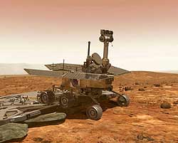 Artistic concept of a Mars Exploration Rover