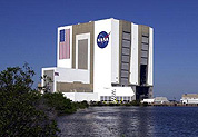 The Vertical Assembly Building is a major landmark at Kennedy Space Center.