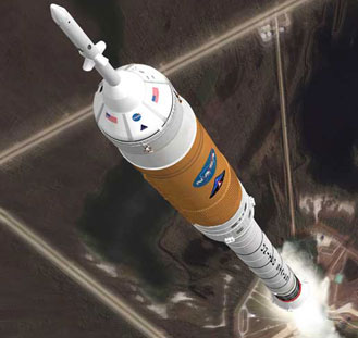 Artistic concept of the Ares I Crew Launch Vehicle