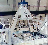 Apollo command module in the Manned Spacecraft Operations Building