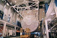 Spacelab module in the Operations and Checkout Building