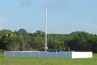 One of nine LDAR II antennae.