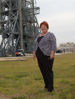 Rosie Carver visits Launch Pad 17-A