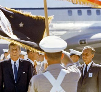 Dr. Kurt H. Debus and President John F. Kennedy