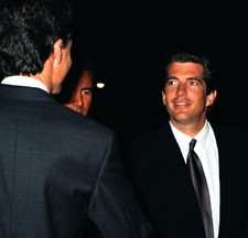 John F. Kennedy Jr. greets premier participants