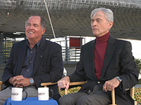 STS-1 astronauts Robert Crippen and John Young
