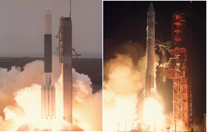 Launching Delta and Atlas rockets