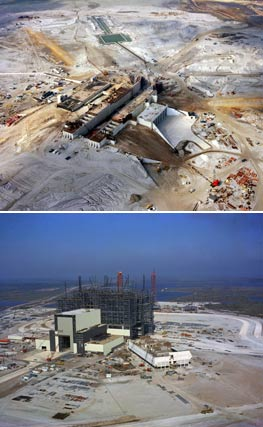 Launch Pad 39A  and the Vehicle Assembly Building under construction