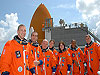 STS-118 astronauts pose for photo after conclusion of prelaunch testing at Kennedy