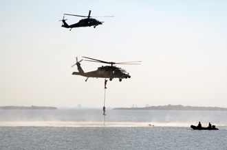 The 920th Rescue Wing demonstrated recovery operations.