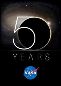 NASA 50th Anniversary Logo.