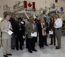 Ambassadors tour the Space Station Processing Facility