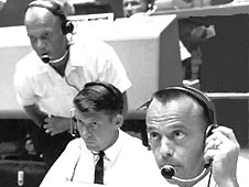 Mercury 7 astronauts John Glenn, Wally Schirra and Alan Shepard.
