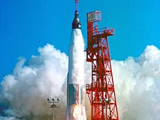 Mercury-Atlas rocket carrying John Glenn's Friendship 7