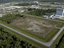 An aerial view of the Industrial Area where a solar power system will be built