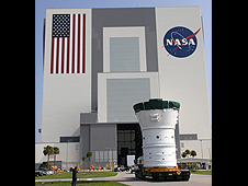 Ares hardware is moved to the VAB