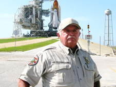 Kennedy Space Center Security Officer Jack Hilderbrand