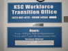 KSC Workforce Transition Office directional sign