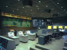 Inside the Flight Control Area of Mercury Mission Control.