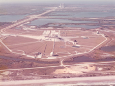 Launch Pad 39A during the Apollo Saturn era