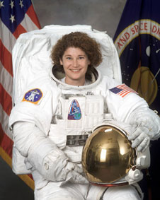 Astronauts Karol Bobko and Susan Helms