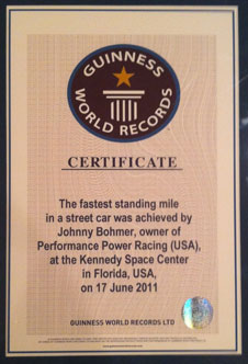 The certification from Guinness.