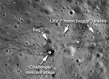 LRO images of the Apollo 17 landing site.