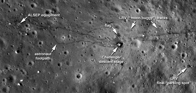 lunar landing sites visible from earth - photo #11