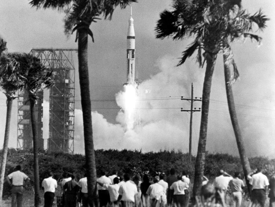 nasa in our history first apollo crew launched