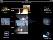 Launch Vehicles navigation in NASA App