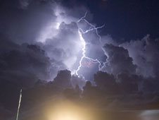 Lightning at Kennedy Space Center