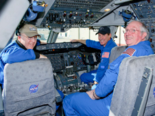 SCA pilots Jeff Moultrie, Bob Zimmerman and Henry Taylor in NASA 911