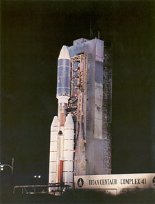 The Voyager 2 on the launch pad