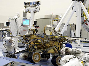 Mars Exploration Rover test