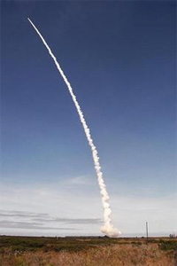 View of Gravity Probe B launch from VAFB