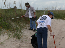 Volunteers scour Kennedy Space Center beaches for trash