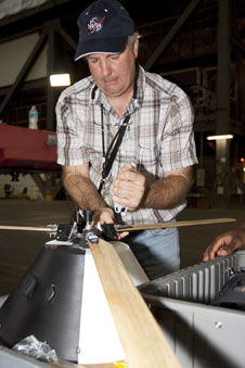 Jeff Hagen works with roto-capsule model