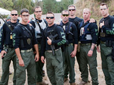 Emergency Response Team members compete in the SWAT Round Up International.