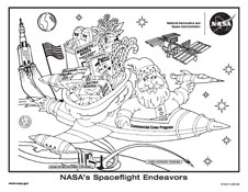 Kennedy Space Center 2012 Holiday Coloring Sheet