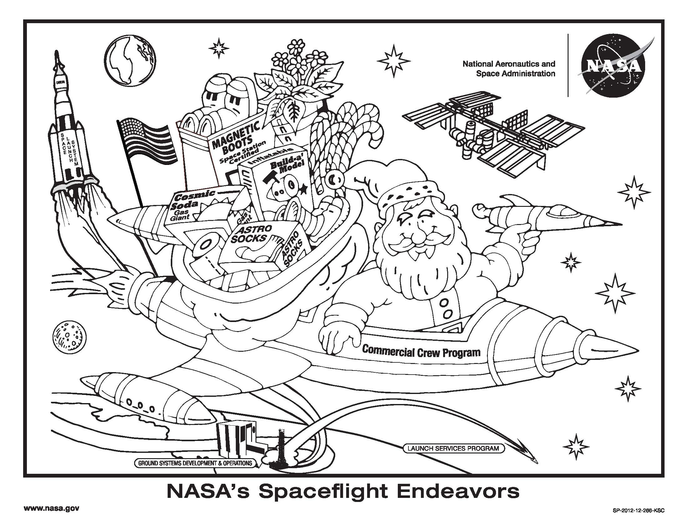 international space station coloring page pics about space